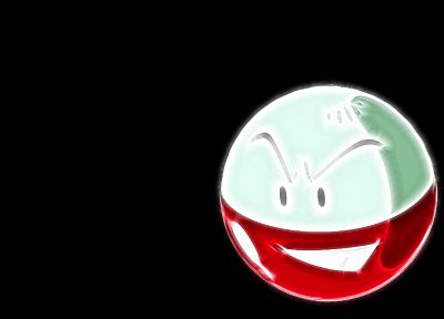 Pokemon, black background, Electrode - random desktop wallpaper