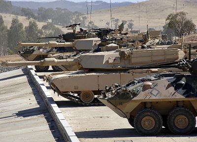military, tanks, LAV-25, M1A1 Abrams MBT - desktop wallpaper