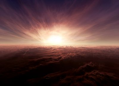 clouds, landscapes, nature, sunlight, skyscapes - desktop wallpaper