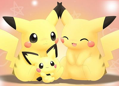 Pokemon, Pikachu, Pichu - desktop wallpaper