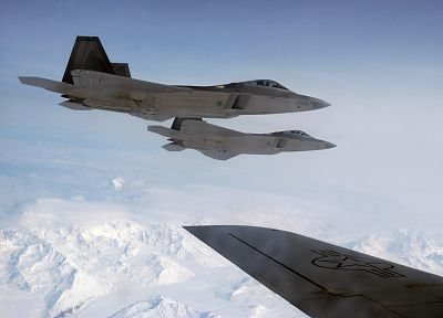aircraft, military, F-22 Raptor, planes, fighter jets - random desktop wallpaper