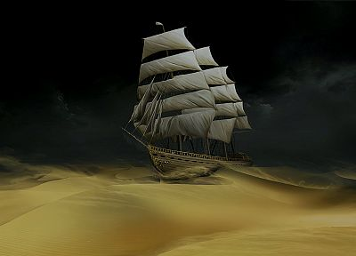 The Adventures Of Tintin, desert ship - random desktop wallpaper