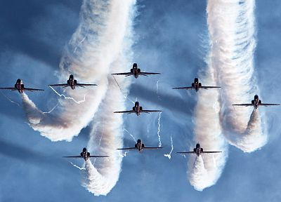 airplanes, airshow, stunt, fighter jets - desktop wallpaper