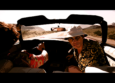 cars, Fear and Loathing in Las Vegas, screenshots, cigarettes - desktop wallpaper