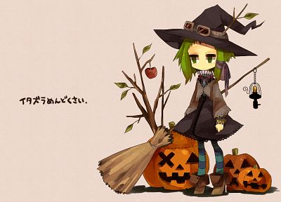 Vocaloid, Halloween, Megpoid Gumi, simple background, anime girls - related desktop wallpaper
