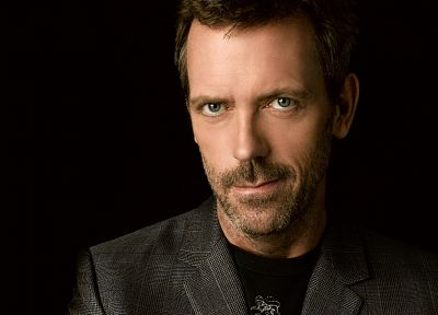 brunettes, women, men, Hugh Laurie, actors, faces, black background - random desktop wallpaper