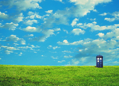 landscapes, TARDIS, Doctor Who - random desktop wallpaper