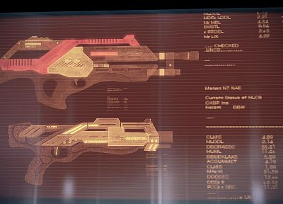 guns, Mass Effect, weapons - random desktop wallpaper