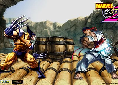 video games, Street Fighter, Marvel vs Capcom 2 - random desktop wallpaper