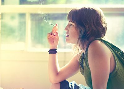 women, smoke, cigarettes - related desktop wallpaper
