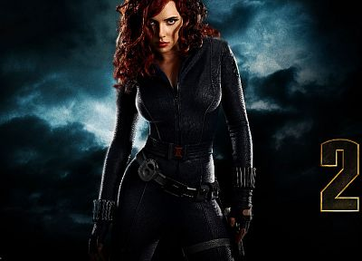 women, Scarlett Johansson, actress, Black Widow, Iron Man 2 - related desktop wallpaper