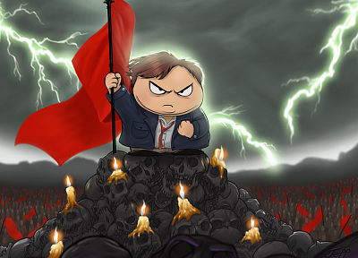 skulls, South Park, flags, Eric Cartman, lightning, candles - related desktop wallpaper
