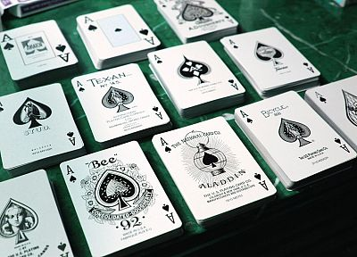 cards, bicycles, bees, ace of spades, tally ho - random desktop wallpaper