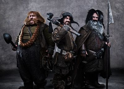 dwarfs, The Hobbit, Bifur, Bombur, Bofur - random desktop wallpaper