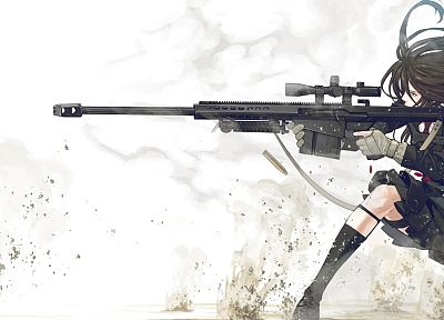 sniper rifles, anime, anime girls - random desktop wallpaper