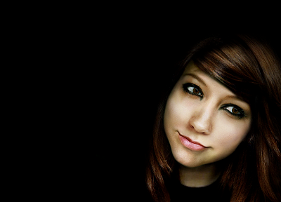 women, Boxxy, faces, black background - random desktop wallpaper