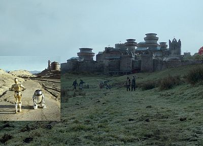 Star Wars, castles, C3PO, R2D2, Game of Thrones, TV series - related desktop wallpaper