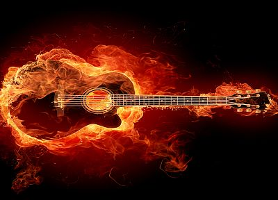 fire, In Flames, guitars - random desktop wallpaper
