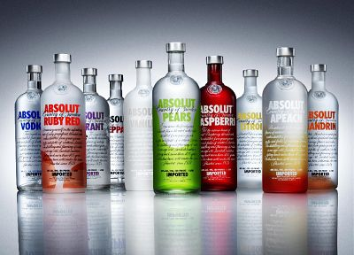 vodka, bottles, alcohol, Absolut - random desktop wallpaper