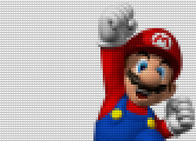 Mario, Super Mario, Legos - random desktop wallpaper