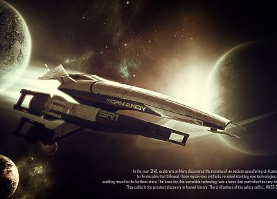 video games, Mass Effect, Mass Effect Normandy - related desktop wallpaper
