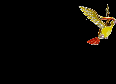 minimalistic, birds, Fractalius, Pidgeot, simple background, black background - desktop wallpaper