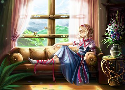 video games, Touhou, artwork, Alice Margatroid - random desktop wallpaper