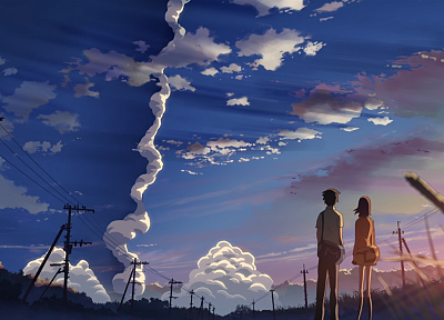 Makoto Shinkai, 5 Centimeters Per Second, contrails - random desktop wallpaper