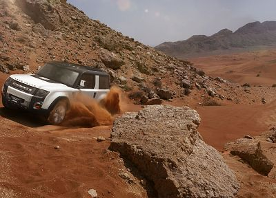 cars, Land Rover, concept art, Range Rover, DC100 - desktop wallpaper