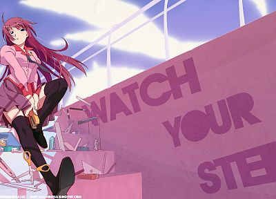 Bakemonogatari, Senjougahara Hitagi, anime, anime girls, Monogatari series - related desktop wallpaper