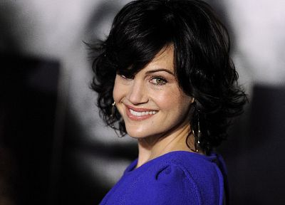 brunettes, women, actress, Carla Gugino, smiling, faces - related desktop wallpaper