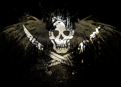 pirates, eagles, flags - random desktop wallpaper