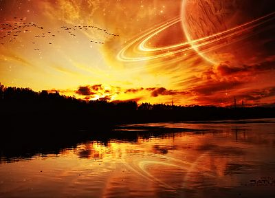sunset, fantasy, photo manipulation - random desktop wallpaper