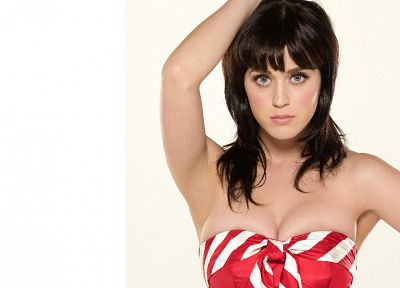 boobs, women, Katy Perry, bangs - desktop wallpaper