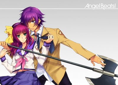 Angel Beats!, Nakamura Yuri, Noda - desktop wallpaper