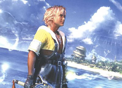 Final Fantasy, video games, Tidus, Final Fantasy X - random desktop wallpaper