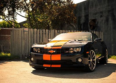 fences, cars, Chevrolet, vehicles, Chevrolet Camaro, Camaro SS - desktop wallpaper