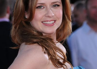 women, actress, Jenna Fischer, smiling - random desktop wallpaper