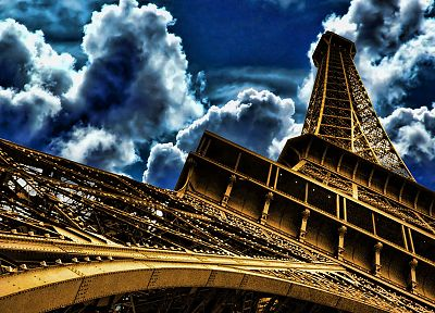 Eiffel Tower, Paris, HDR photography - random desktop wallpaper
