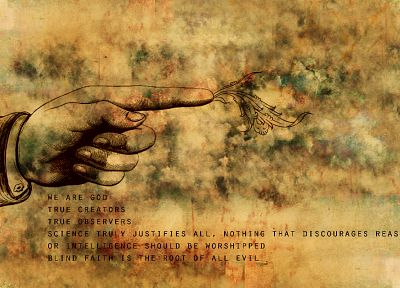 science, faith, text, grunge, hands, quotes, pointing, reason, intelligence - related desktop wallpaper