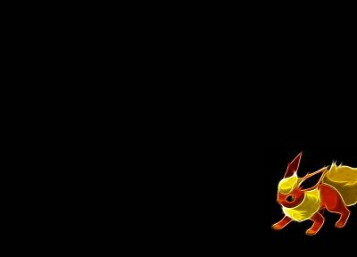 Pokemon, Flareon, black background - random desktop wallpaper