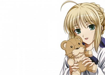 Fate/Stay Night, anime, Saber, simple background, anime girls, white background, Fate series - related desktop wallpaper
