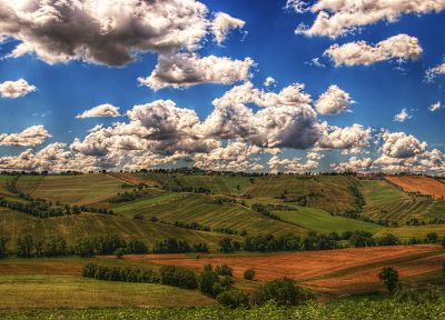 clouds, landscapes, nature, fields - random desktop wallpaper