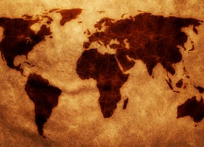 paper, brown, maps, world map - random desktop wallpaper