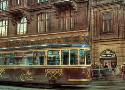 tram, streetcars, Cracow, cities - random desktop wallpaper