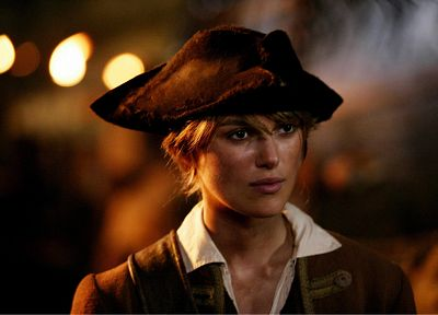 women, movies, Keira Knightley, Pirates of the Caribbean, Elizabeth Swann - desktop wallpaper