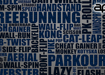 typography, parkour - random desktop wallpaper