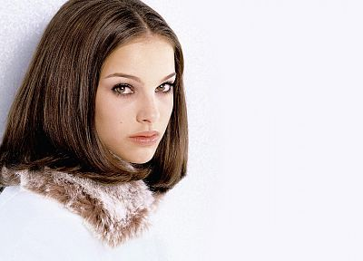 women, actress, Natalie Portman, white background - random desktop wallpaper