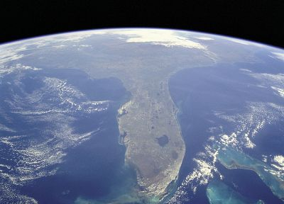 outer space, Earth, Florida - random desktop wallpaper