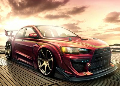 cars, Mitsubishi, artwork, vehicles - random desktop wallpaper